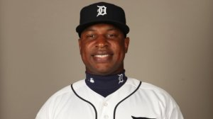 LAKELAND, FL - FEBRUARY 28: Delmon Young (21) of the Detroit Tigers poses during Photo Day on Tuesday, February 28, 2012 at Joker Marchant Stadium in Lakeland, Florida. (Photo by Robert Rogers/MLB Photos via Getty Images) *** Local Caption *** Delmon Young
