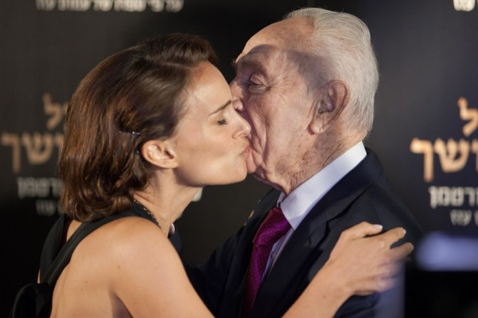 Image result for natalie portman shimon peres